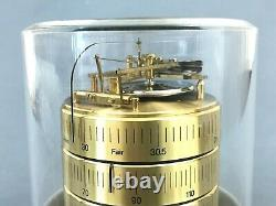 Vintage BARIGO Weather Station Thermometer Barometer Humidity Germany Brass Wood
