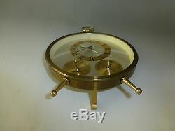 Vintage BULOVA Weather Station Wind Up Alarm Clock Hygrometer Temperature Meter
