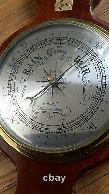 Vintage Howard Miller Presque Isle Barometer Weather Station KODAK Badge 612-712