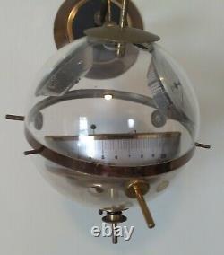 Vintage Mid Century Modern Atomic Age Sputnik Hanging Weather Station Barometer