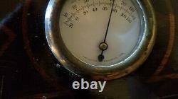 Vintage Sessions Quartz Weather Station Banjo Clock Barometer Thermometer Rare
