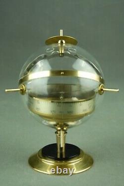 Vintage Sputnik HUGER Table Weather Station Barometer Thermometer 60s 70s 80s