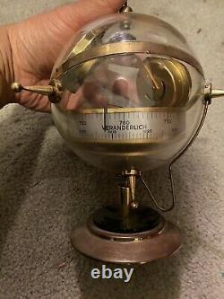 Vintage Sputnik Table Barometer Weather Station