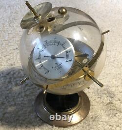 Vintage Sputnik Weather Station Barometer West German Brass