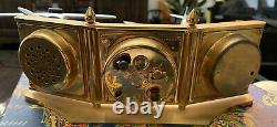 Vintage Swiss ANGELUS Weather Station 8 Day Clock Barometer Thermometer Brass