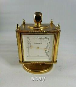 Vintage Swiss Weather Station Clock Hygrometer Barometer Thermometer Salem