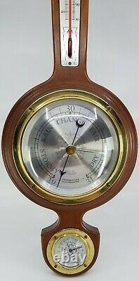 Vintage Taylor Instrument Weather Station Banjo Wall Thermometer Barometer