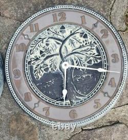 Vintage Virginia Metalcrafters Clock and Thermometer Weather Station In/Outdoor