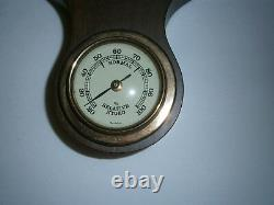 Vintage Weather Station Banjo Barometer Thermometer Humidity West Germany Wood