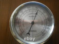 Vintage Weather Station Barometer Thermometer Humidity Springfield Wood Nautical