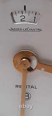 Vintage jaeger lecoultre leather weather station alarm clock barometer