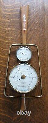 Vtg Airguide Guitar Weather Station Barometer Instrument MCM Danish Modern