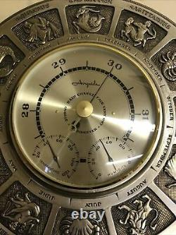 Vtg Airguide Zodiac Barometer Weather Station USA made Horoscope
