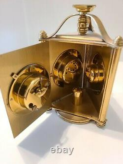 Vtg Swiss Weather Station Clock Barometer Thermometer 17 Jewels WORKING