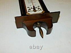 Vtg Taylor Weather Station Barometer Thermometer Stormoscope Wall Brass Finials