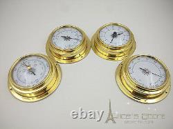 Weather Station 4 pcs/set 70mm Brass Barometer /Thermometer/ Hygrometer /Clock