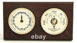 Weather Stations Cape Cod Tide Clock And Barometer Thermometer On Mahogany