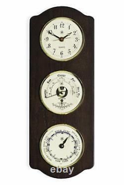 Weather Stations Tidewater Clock Tide Clock And Barometer & Thermometer