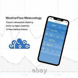 WeatherFlow Tempest Weather System with Built-in Wind Meter Rain Gauge