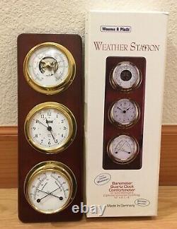 Weems and Plath Germany Weather Station 721700 Quartz Thermometer Marine EUC