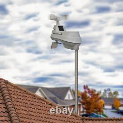 Wireless Weather Station 5-in-1 Sensor Self-Calibrating Forecasting Rain Gauge