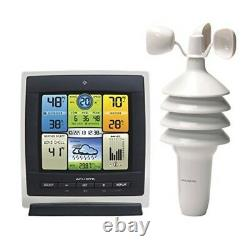 Wireless Weather Station with Wind Speed Humidity Sensor Temperature Forecast New